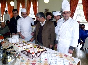 Chef Yousef Lahhoud with JLSS Kitchen Team