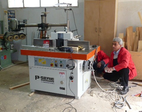 The PANHANS Milling Machine Being Installed